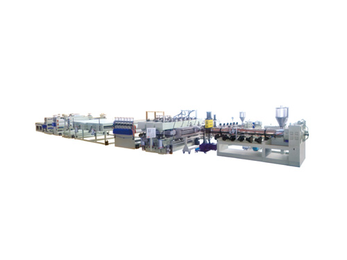 PC, PP, PE Hollow Lattice Sheet Production Line